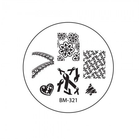 2012 Collections Nail Stamping Plates BM-321