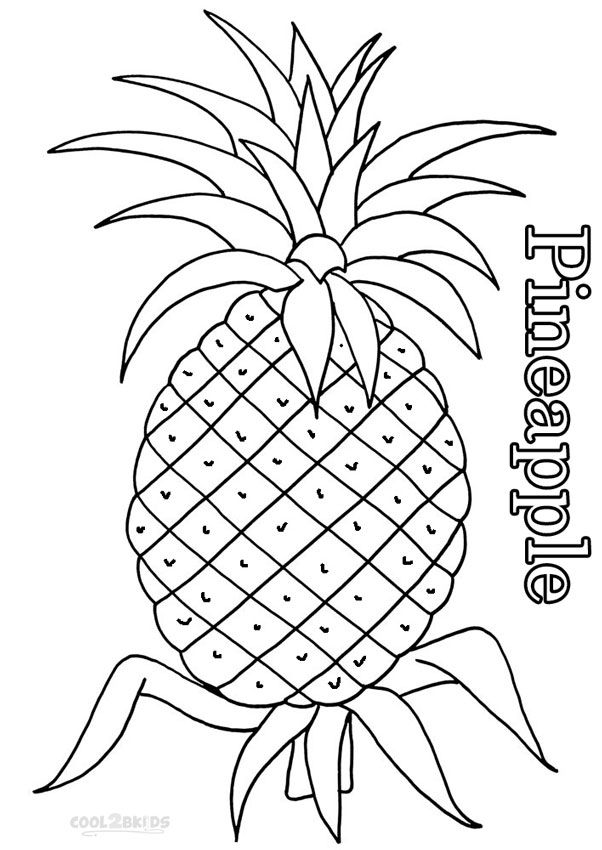 Printable Pineapple Coloring Pages For Kids Cool2bkids Fruit Coloring Pages Coloring Pages For Kids Rose Coloring Pages
