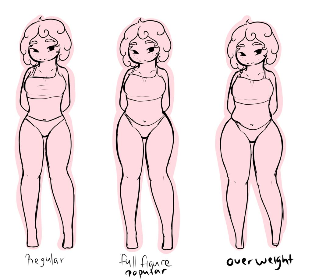 Im Planning To Use The Overweight Body Type For My Oc Leila It Will Be So Cute With Her Little Witch Outfit Art Reference Poses Art Reference Cute Drawings