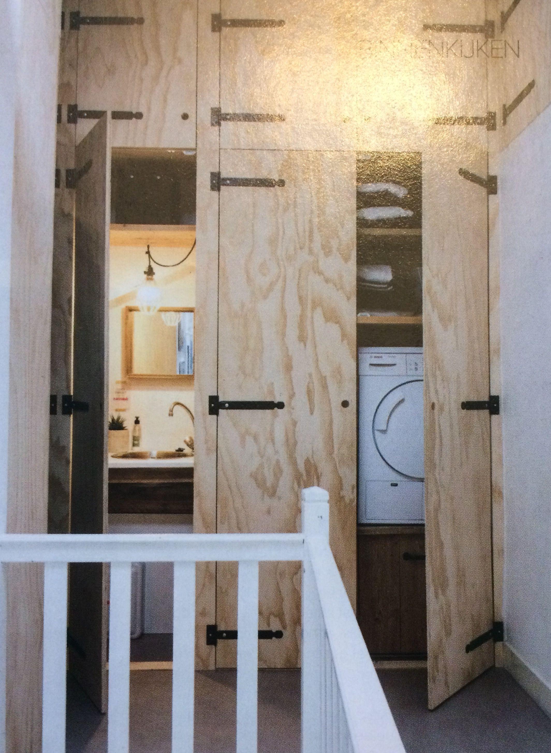 Wasmachine in kast, inbouw Wasruimte | Huis * Badkamer | Pinterest