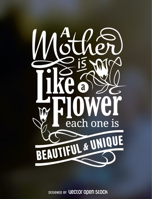 Typogaphic Design For A Mother 39 S Day Gift With A Lovely