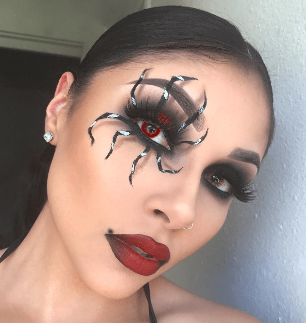 Easy Halloween Makeup Looks Made With Basics Halloween Halloweenmakeup Halloween Makeup Easy Halloween Eye Makeup Halloween Makeup Looks