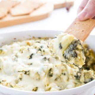 8-Ingredient Spinach Artichoke Dip (Low Carb, Gluten-free)