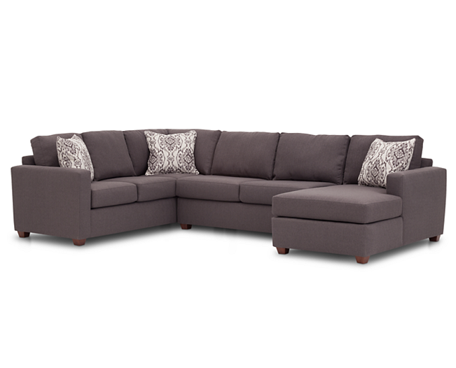 Sofas Siesta 3 Pc Sectional From On Furniture Row Rox 2 000 Memory Foam Mattress 120