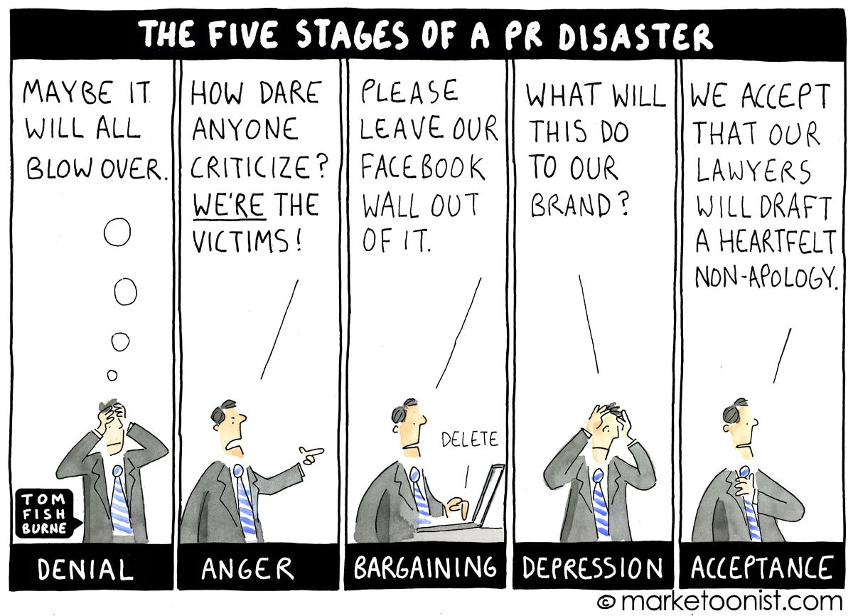How gamification can pimp your corporate sales training - 8 Types Of Corporate Apologies Cartoon Marketoonist Tom Fishburne