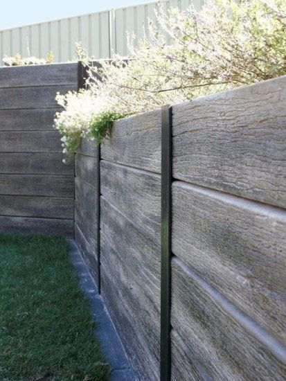 Real Crete Structural Retaining Walls Retaining Wall Concrete Posts Outdoor Solutions