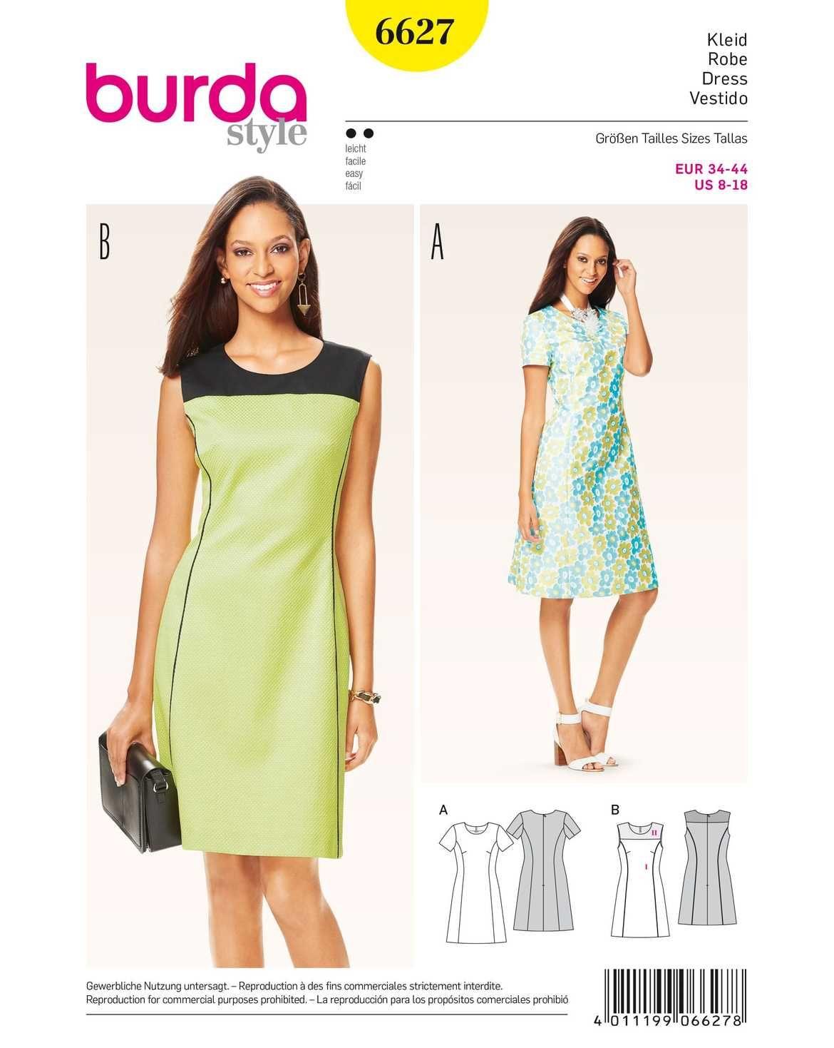 burda style, Schnittmuster, Kleid F/S 2016 #662 | Mode zum selber ...