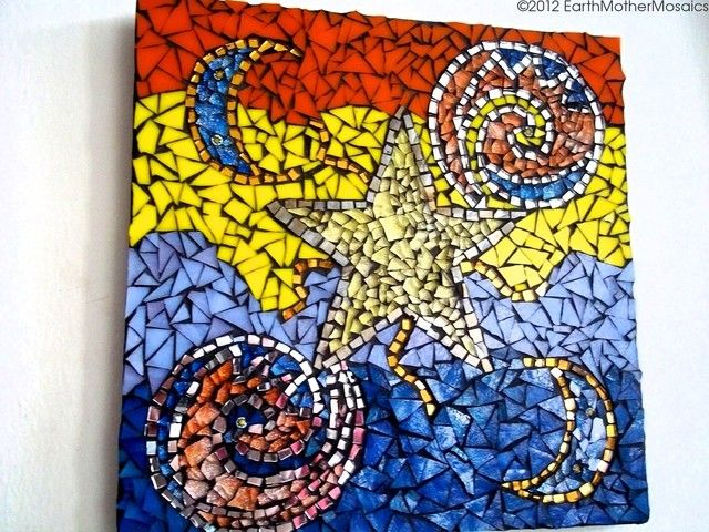 Stained Glass Mosaic: Wall Art, Wall Hanging, Hippie, B. Starting at ...