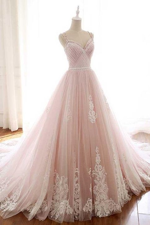 tulle ball gowns sleeves formal dress dress Cheap ball gowns appliques Bridal Dresses #eveningdresses