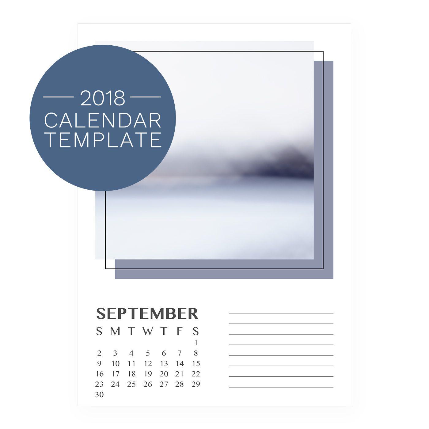 Retro 2018 Calendar Template Diy Printable Monthly Calendar Retro