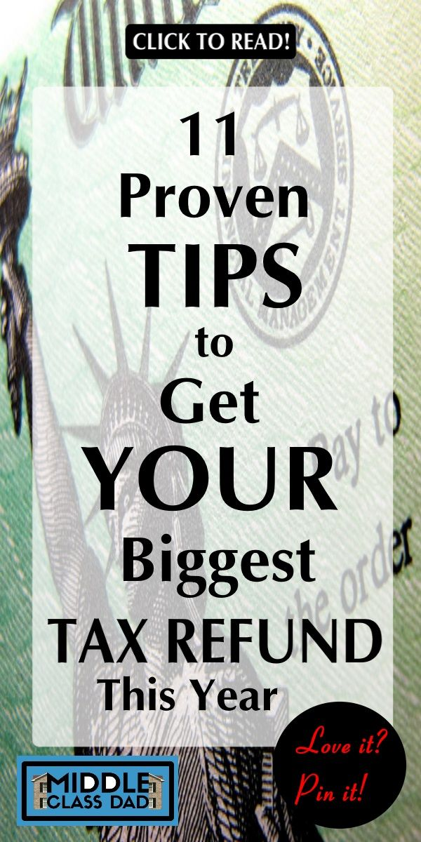 11 Biggest Tax Refund Tips You Probably Didn't Know Tax