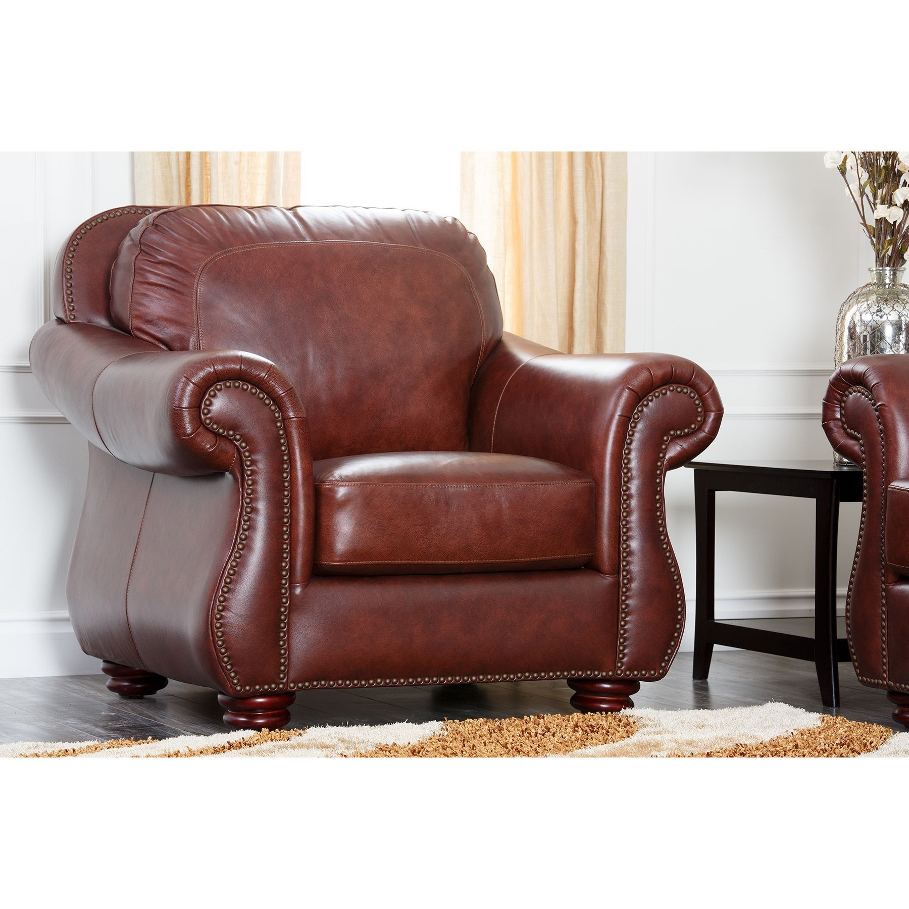 Abbyson Living Chandler Leather Armchair