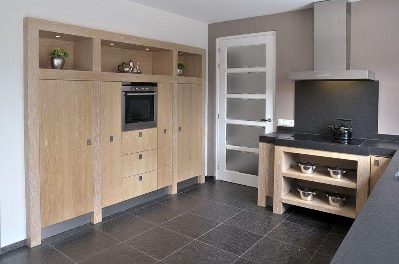 Landelijk moderne keuken inbouwkast de keuken