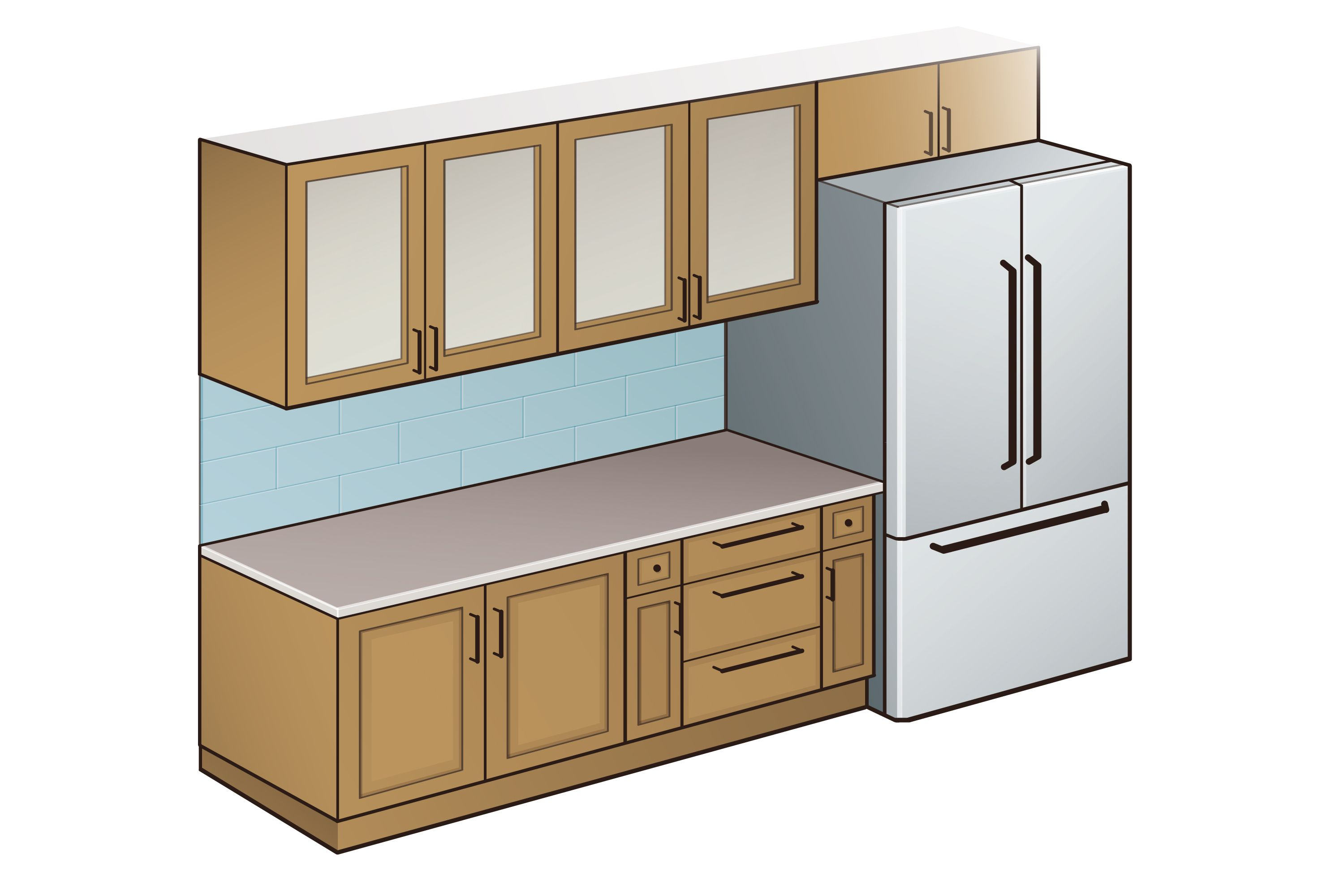 Standard Kitchen Counter Depth Hunker Kitchen Cabinet Dimensions Kitchen Cabinets Height Kitchen Cabinet Sizes