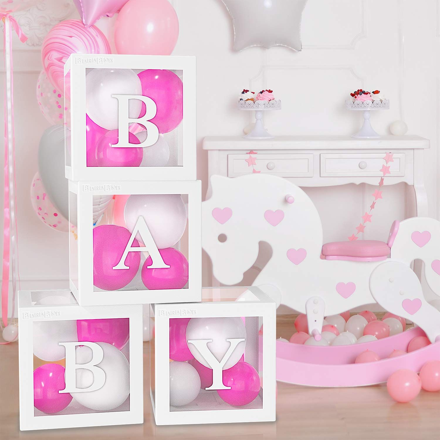 Balloon Box for Baby Shower Decorations For Boy, Girl And