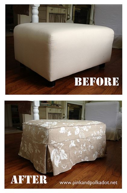 Remember This Wing Chair Slipcoveru2026well Here Is The Matching Ottoman! Itu0027s  Like Working With Buttah.