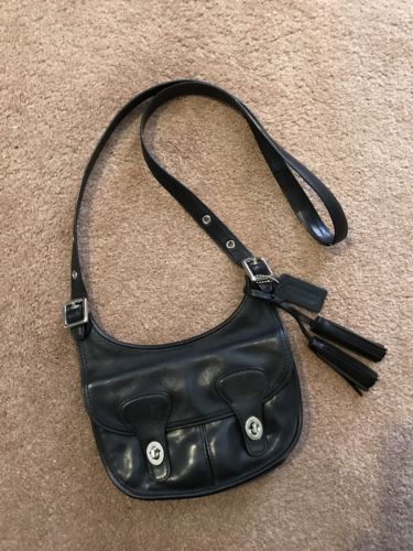 c01f8e83adb ... france auth coach legacy amanda flap saddle bag mini pony express  crossbody 19925 black 8985d 3975a ...