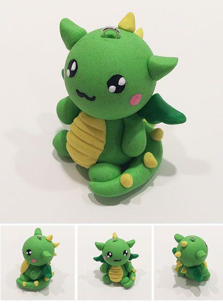 Dragon Fimo Kawai Pate Fimo Dragon Polymer Clay Idee De Cadeau