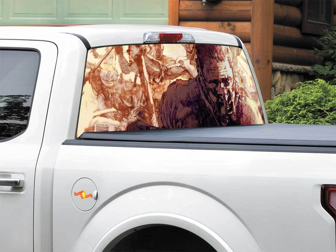 Product Mad Max Fury Road Art Rear Window Decal Sticker
