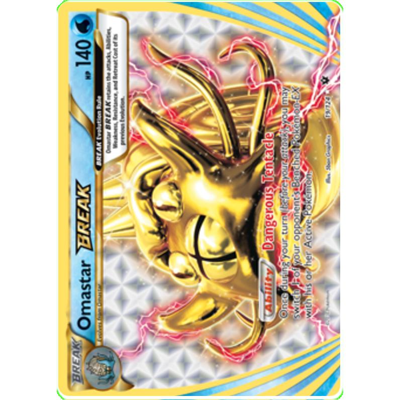 19//124 Pokemon Omastar BREAK XY Fates Collide