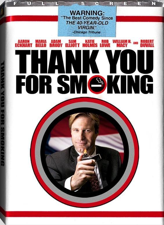 Aaron Eckhart Killed It In This Role And This Movie Is So Smart And Funny Gracias Por Fumar Afiche De Pelicula Carteles De Cine