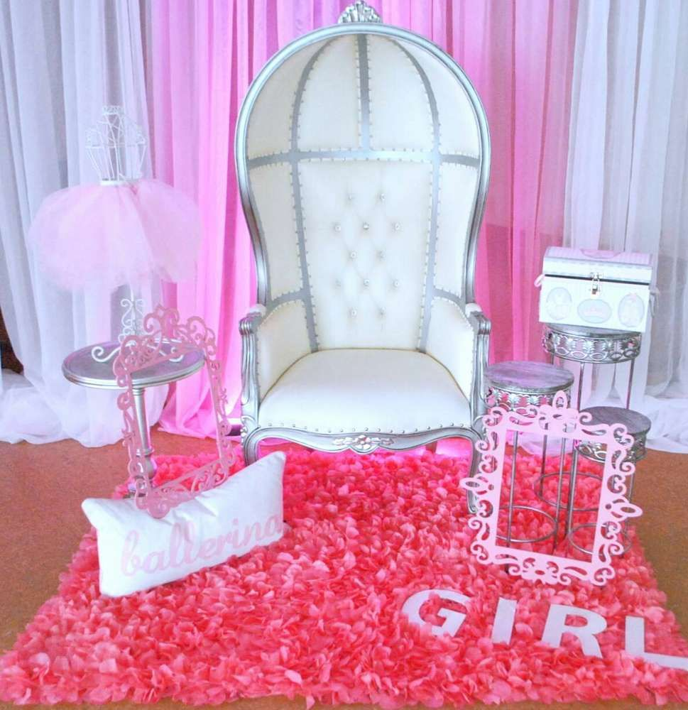 pink ballerina baby shower party see more party ideas at