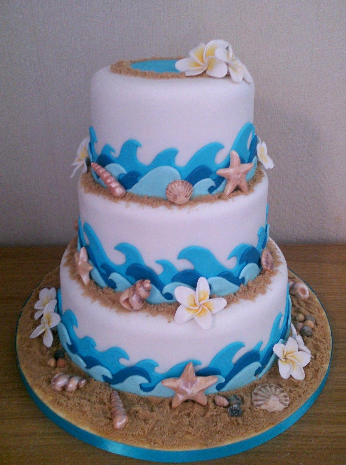 Utube Wedding Shower Cake Beach Theme