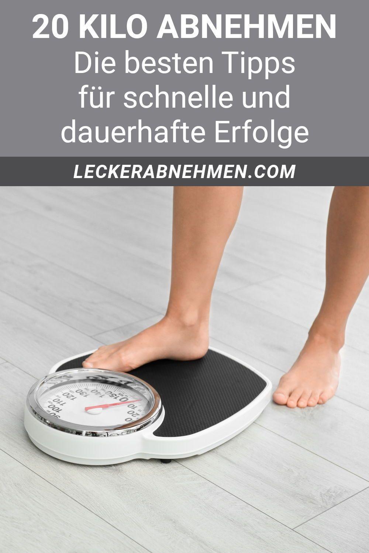 Tipps zum Abnehmen von 20 Kilo