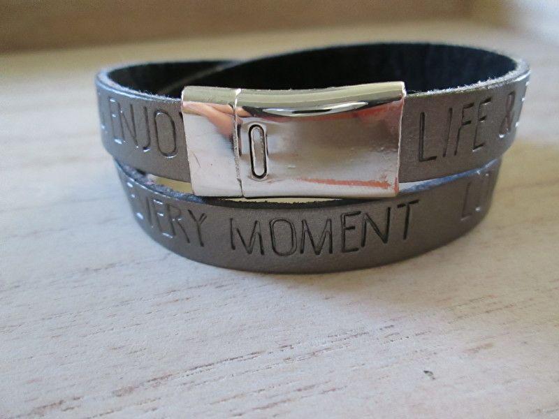 Quote armband zilver met magneetsluiting