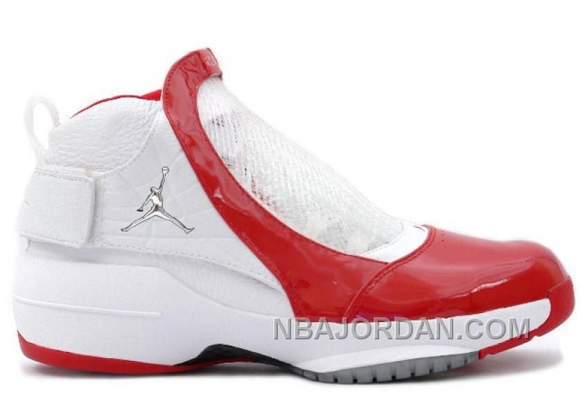 307546-101 Air Jordan 19 XIX Original OG Midwest White Varsity Red ... a42389d2c