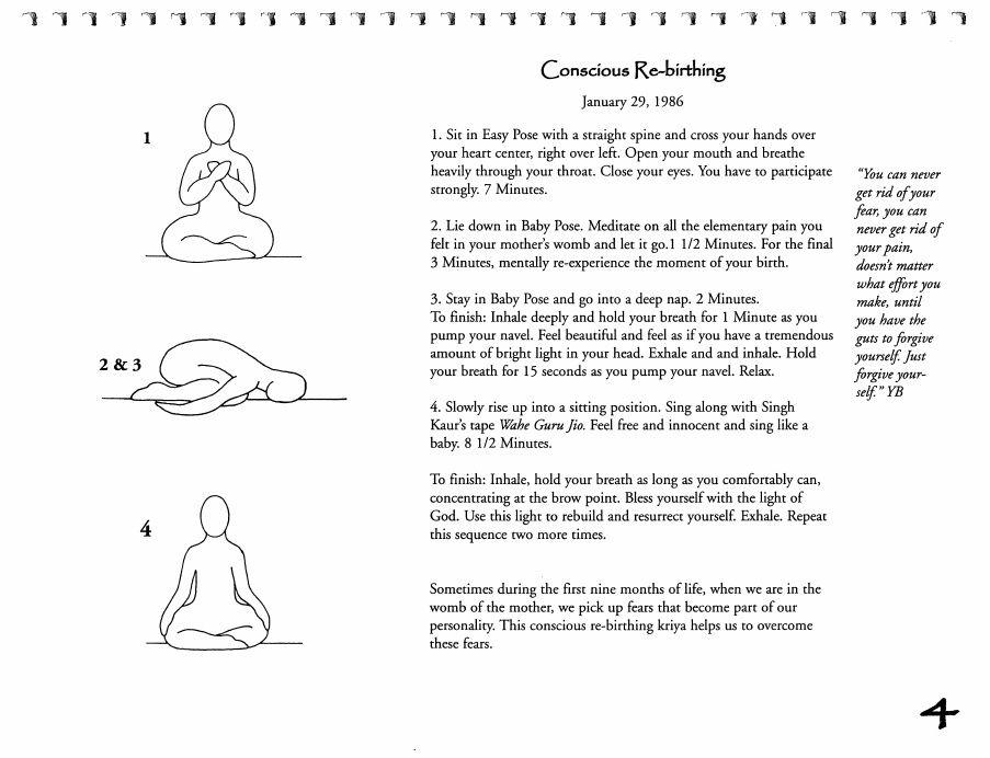 Kriya Conscious Rebirthing 1 Kriya Consciousness Kundalini Yoga