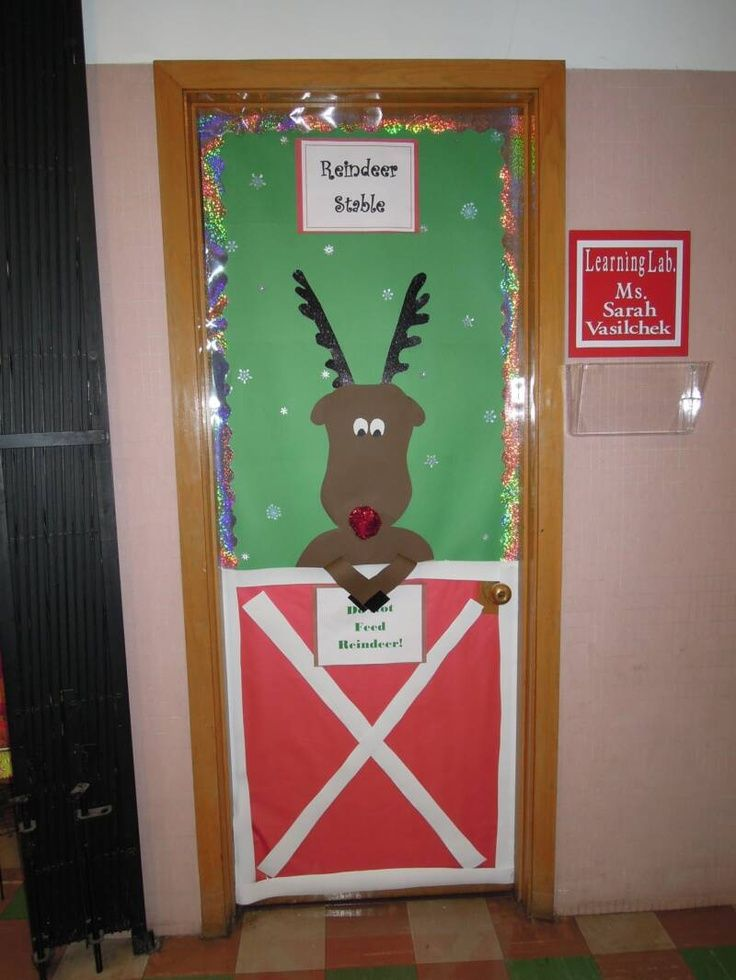 christmas door decorating contest winners | We decorated our door ...