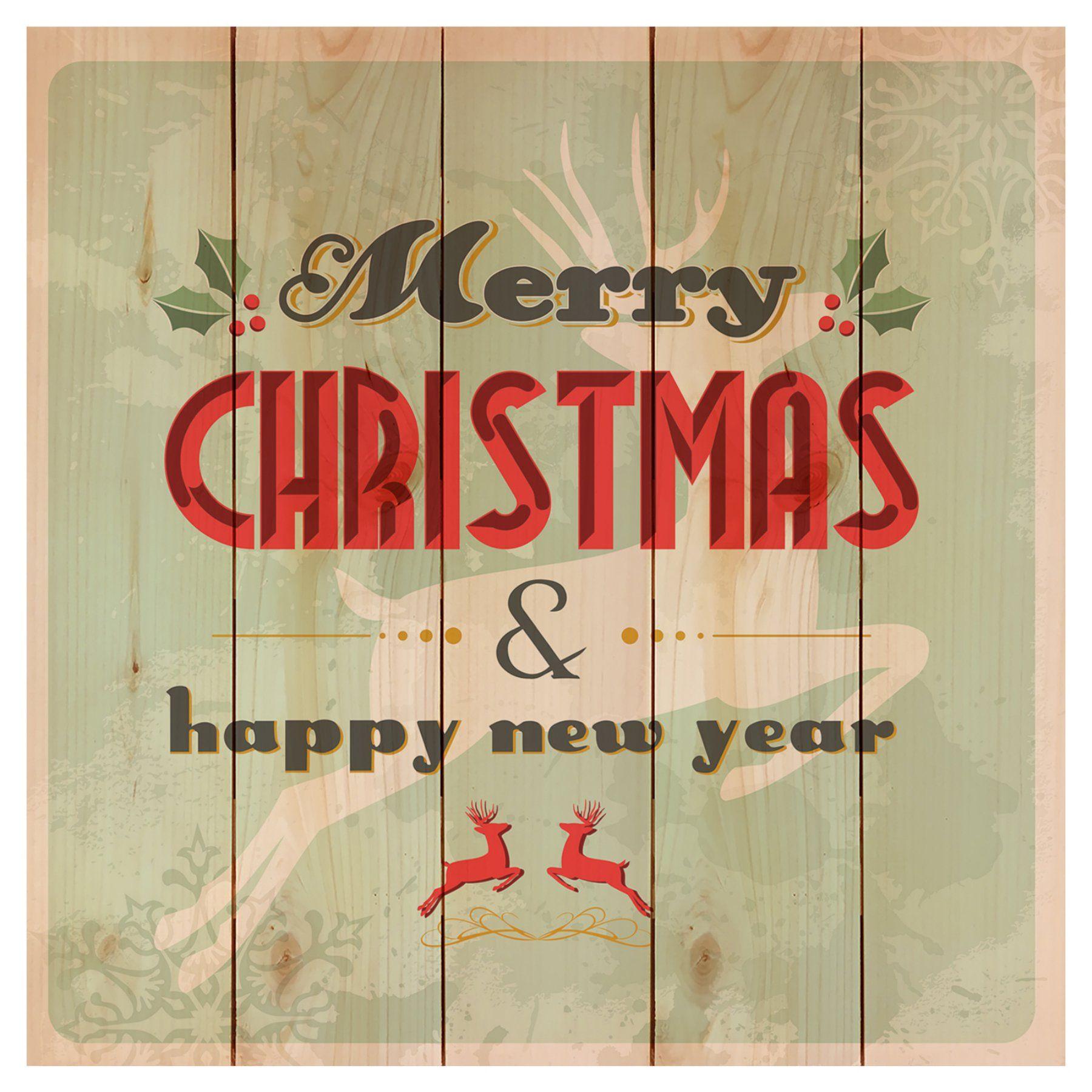Gizaun Art Merry Christmas Reindeer Indoor Outdoor Wall Art Wmrc1717 Merry Christmas Vector Merry Christmas Happy New Year Merry Christmas Sign