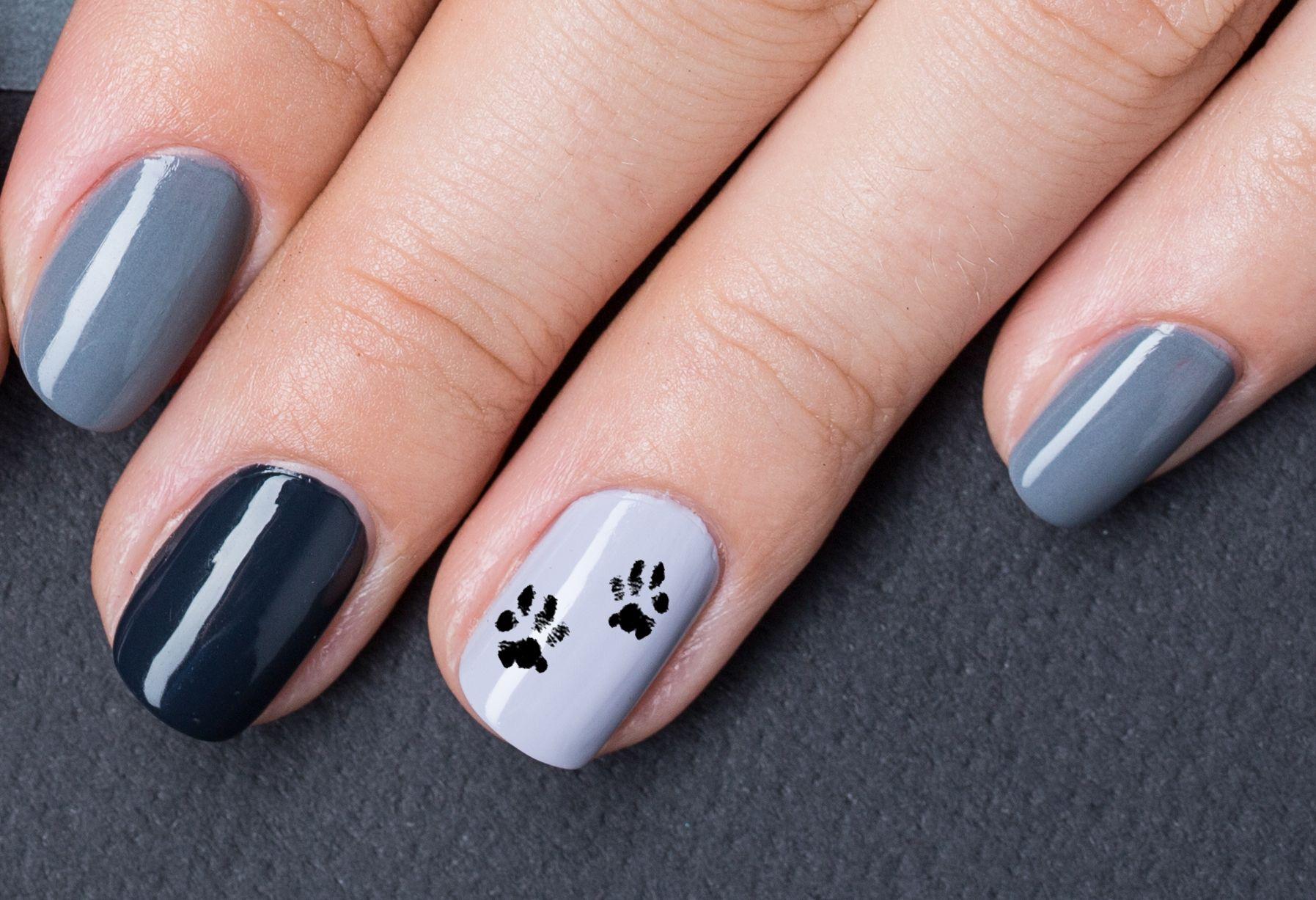 Bear paw nail art decals paw nails nails nail art
