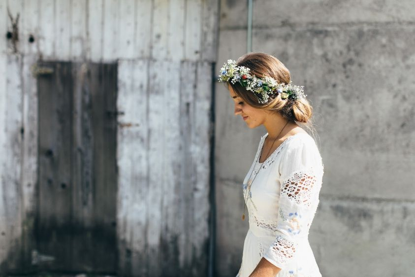 Sarah and Nate Stracke - Midwest DIY Boho Wedding-22