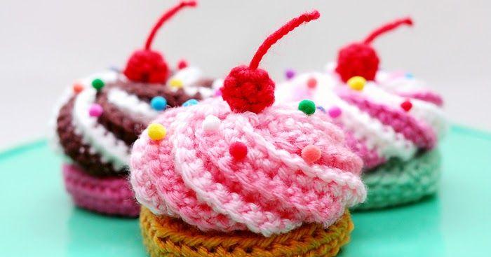 Kuchen,Cupecake,Esse,Häkeln,Anleitung, Video, | Crochet: toys ...