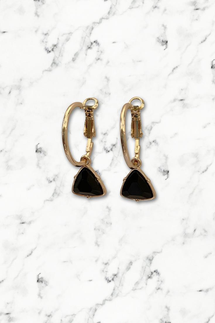 Nickel Free Hoop Earrings Brass Hoop Earrings in Mint Blue