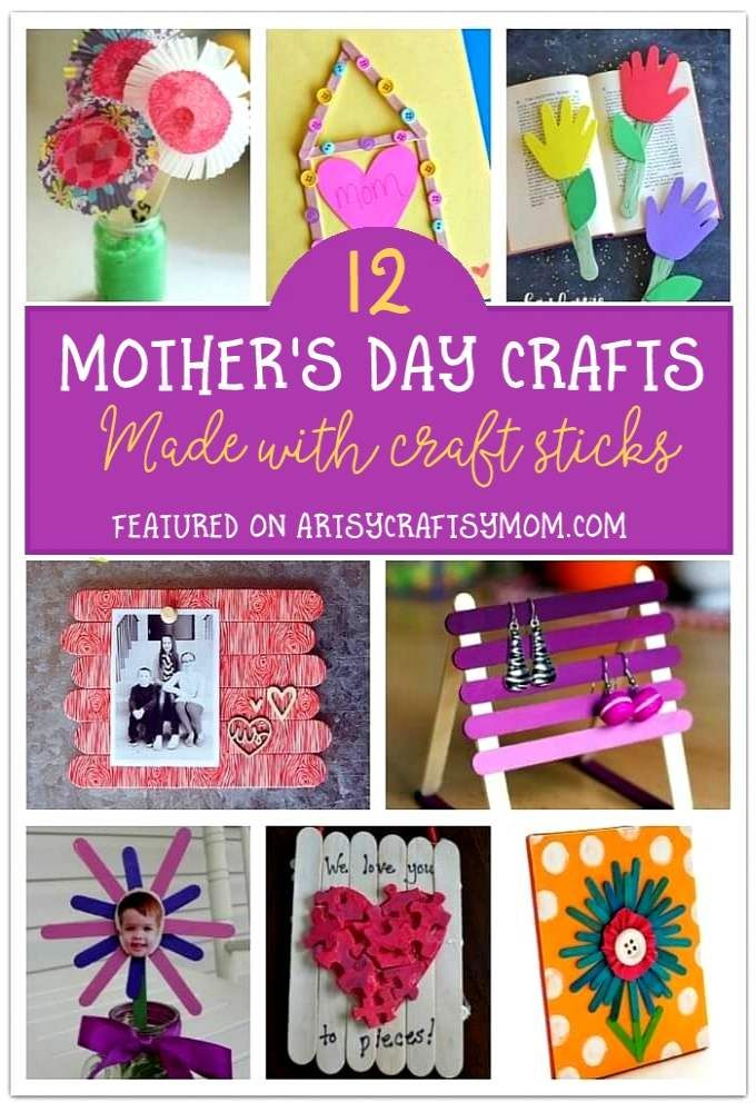 12 Mother S Day Crafts To Make With Craft Sticks Crafts