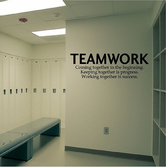 Teamwork Decal Removable Sports Wall Sticker Coach