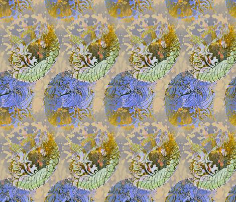 pink Jellies in green colorway fabric by greenlotus on Spoonflower - custom fabric