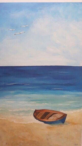acrylbild strand und meer | acrylbilder, malen und