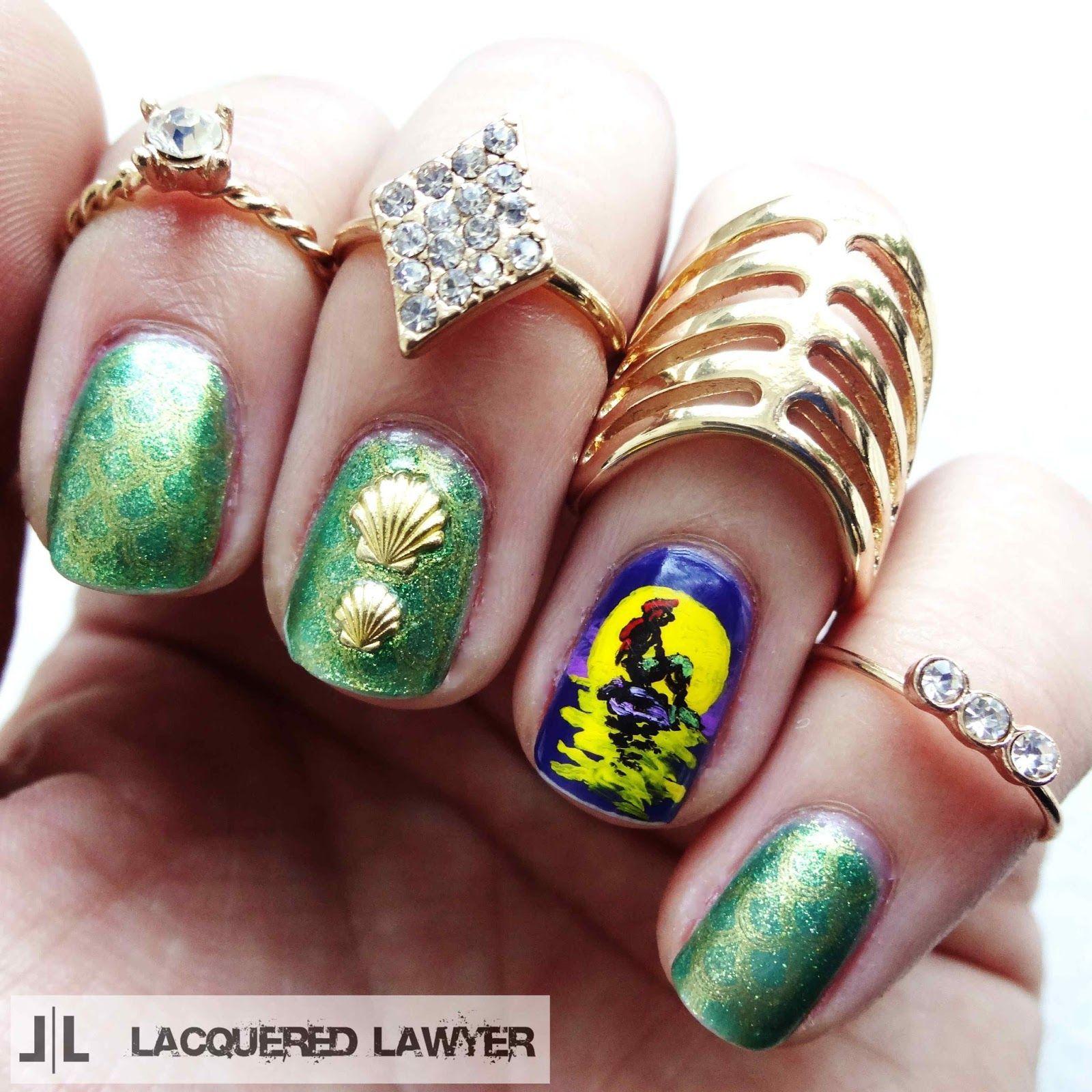 Little Google1 Nail Art: Nail Art Blog, Mermaid Nail Art And