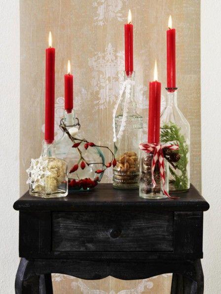 weihnachtslichter glasfalschen werden zu adventskerzen weihnachtslichter selber basteln und. Black Bedroom Furniture Sets. Home Design Ideas