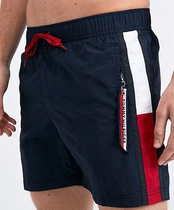 Solid Flag Swim Short Short Men Fashion Sport Shorts Men Swim Shorts