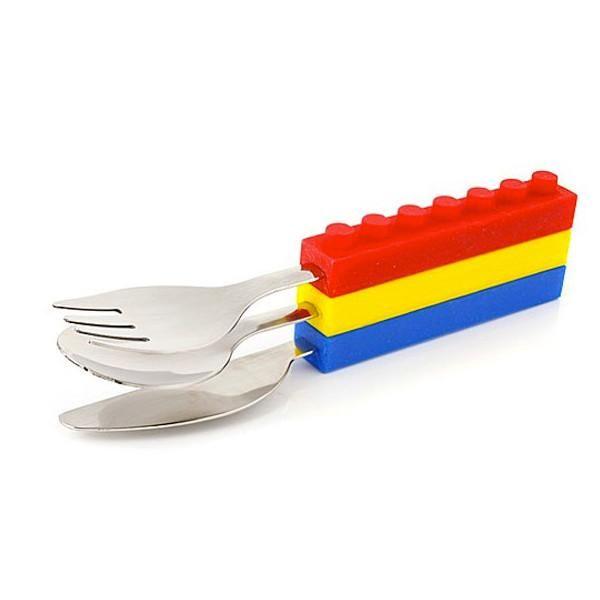 Brick Shape Stackable Cutlery (Set of 3)  sc 1 st  Pinterest & Brick Shape Stackable Cutlery (Set of 3) | Random/Interesting ...