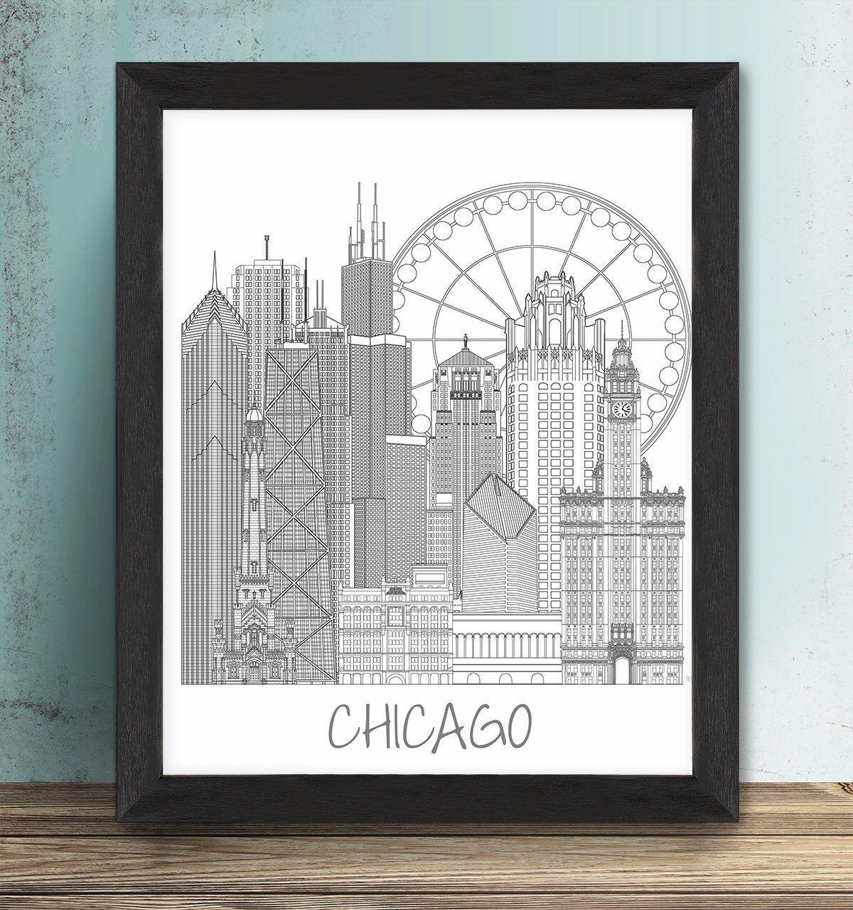 Chicago framed print board of trade chicago art chicago