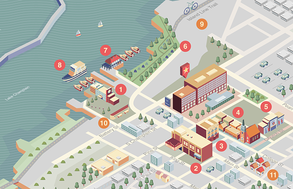 Burlington Hilton Map on Behance