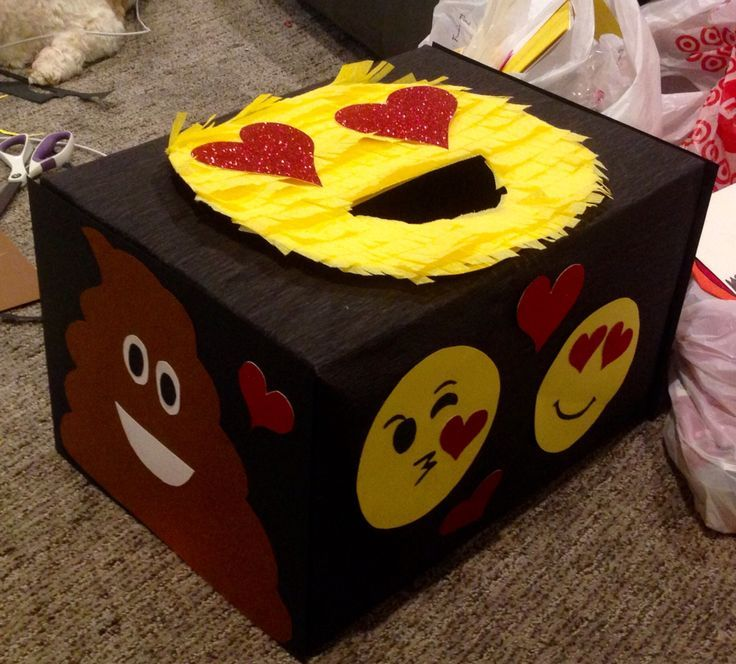 Ideas For Decorating Valentine Box Emoji Valentine Box  Valentine's Fun  Pinterest  Emoji Box And