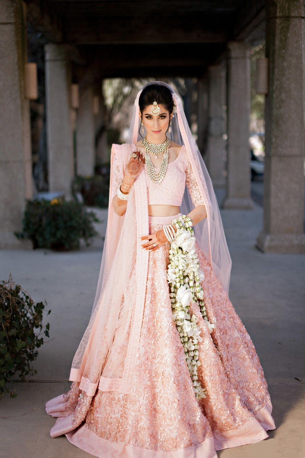 Natasha and Sandeep | lehenga | Pink bridal lehenga ...