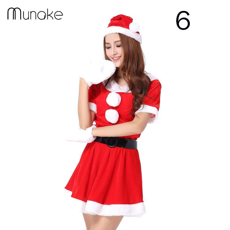 617a2ee5b99 christmas women dress santa claus xmas dress christmas decoration supplies  sexy unique christmas hats costume winter